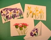 PERSONALIZED Note Cards - Hand-Painted Watercolor - Floral - Pkg of 10