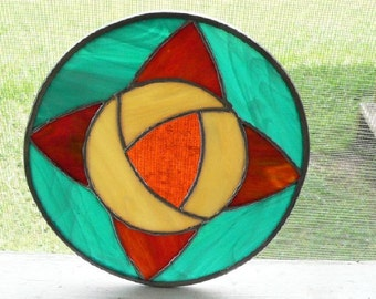 GeoFlower 1 - Stained Glass Piece
