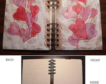 Lovely Thoughts Hand Painted Journal