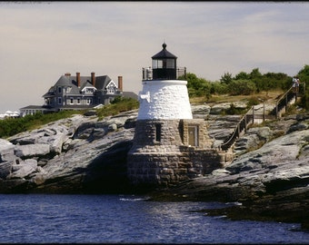 Castlehill Lighthouse, Newport RI - 8x10 Photographic Metallic Print