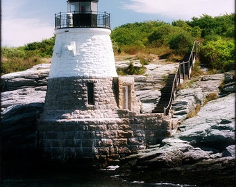 Castlehill Lighthouse - 2, Newport RI - 8x10 Photographic Metallic Print