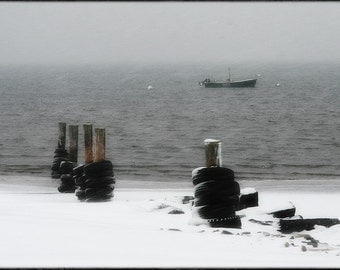 Seaside Santuary - Fogland Beach, Tiverton RI, Photographic Metallic Print, women's Men's Gifts