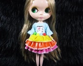 Neo Kenner Blythe doll Outfit Clothing Cloth Fashion Dress Handmade Basaak B182