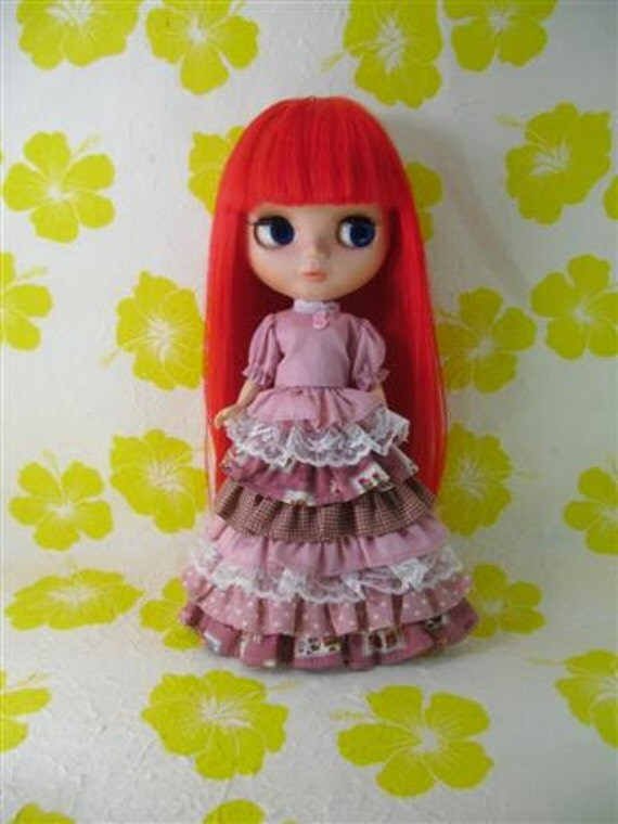 Neo Kenner Blythe doll Outfit Clothing Cloth Fashion Handmade Basaak Set 2 pcs B216