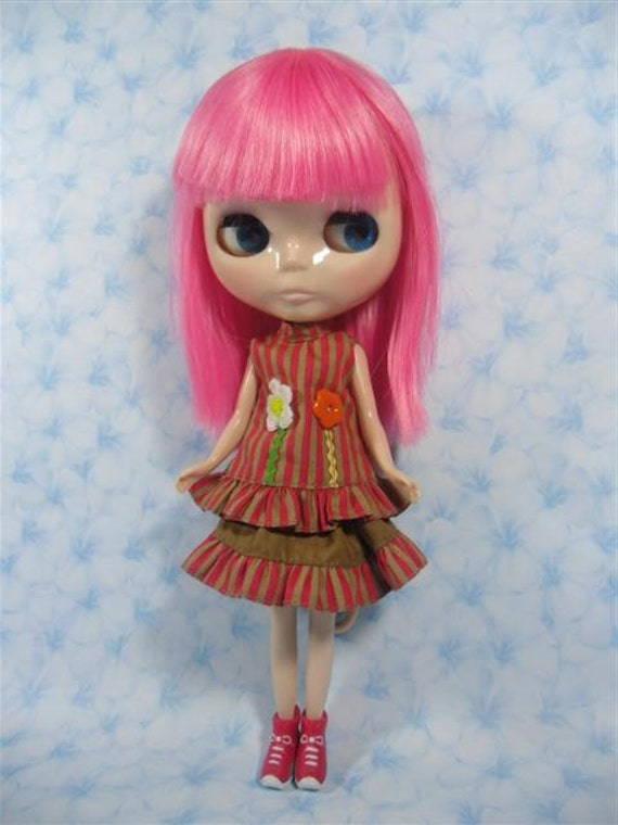 Neo Kenner Blythe doll Outfit Clothing Cloth Fashion Handmade Basaak B228