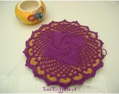 Cork Trivet, hoop, pin board,crochet doily,Modern kitchen,Hot Pads,Round