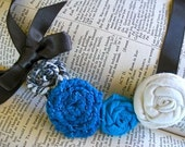Rosette Necklace- Something Blue