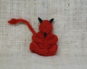 Devil, Handcrafted, Needle Felted