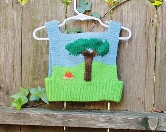 SALE------Hand Knit Baby Vest
