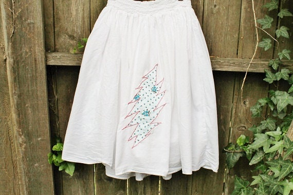 RESERVED for Angie- SALE------Upcycled Light as a Feather Grateful Dead Bolt Summer Skirt
