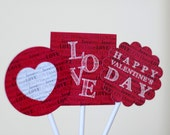 Love Valentine's Day Party Tags by FLIPAWOO - Printable File