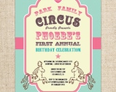 Vintage Circus or Carnival Invitation by FLIPAWOO - Customized Printable File
