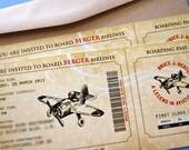 Vintage Airplane Invitation Prints (x35) - Reserved Listing for mariamayrapetyan1