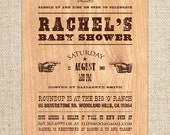 Birthday BBQ Invitation| Baby Shower Western Invitation - Customized Printable File