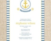 Nautical Invitation for a Birthday Party or Shower by FLIPAWOO  - Customized Printable File