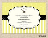 Bee-Themed Shower, Brunch or Birthday Party Invitation by FLIPAWOO  - Customized Printable File