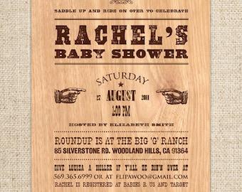 Birthday BBQ Invitation| Baby Shower Western Invitation - Customized Printable File