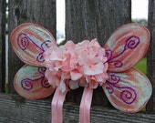 Pink Sparkle Fairy Wings  ready to ship  CLOSEOUT