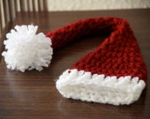 Baby santa hat for newborn Christmas Photography prop ready to ship