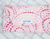 Crayon Clutch in Multi-Pink Circle Dots- MULTIPLE FABRICS AVAILABLE