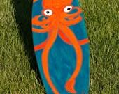 Original One Of A Kind Handpainted Longboard Deck - KRAKEN