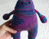 Hand Knit Stripey monster
