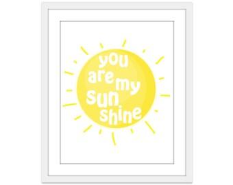 You Are My Sunshine Wall Art sunshine art | etsy