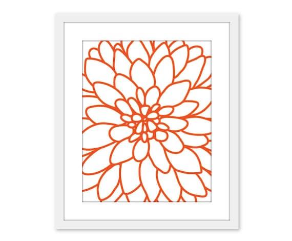 Dahlia Art Print Dahlia Wall Art Flower No 2 Art Print