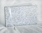 Silver daisies guest book daisy white memory coptic bound wedding album