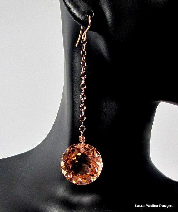 LP 650  Dazzling, Round Morganite Earrings