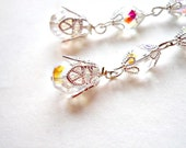Crystal Drop Earrings in Clear Sparkle