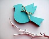 Love Bird Place Cards, Wedding Birds, Escort Cards, Paper Bird Cut Outs, Blank