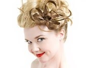 Fascinator Headpiece Wedding Bridal Accessory - Haircomb - Made to Order - Choose Your Color -  Jane