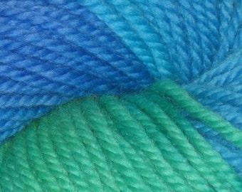 SALE - 25 percent off Beach Glass Handpainted 100% Peruvian Highland Wool