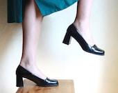 Black flatnose shoes 8 1/2