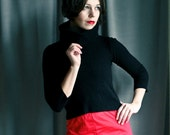 RESERVED for Dr.Ubermensch  --- Sweetheart - bright Red 1970ies high waist panties