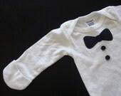 Baby Boy Long Sleeved Tuxedo onesie size 0-3 Months