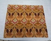 Vintage LIBERTY of London Art Nouveau design fabric IANTHE - William Morris -EARTH colour