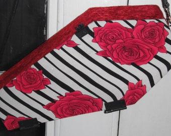 Rockabilly Rose Coffin Purse