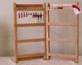 EARRING ORGANIZER - 80 Pair - Solid Oak