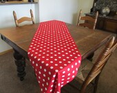 Large Red and White Polka Dots Runners, Fun and Festive