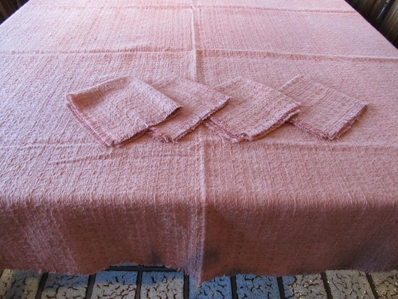 Beautiful, Hand Dyed Natural Fabric Table and Napkin Set
