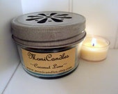 Coconut Lime 4oz. Jar Candle w/Daisy Cut Out Pewter Lid