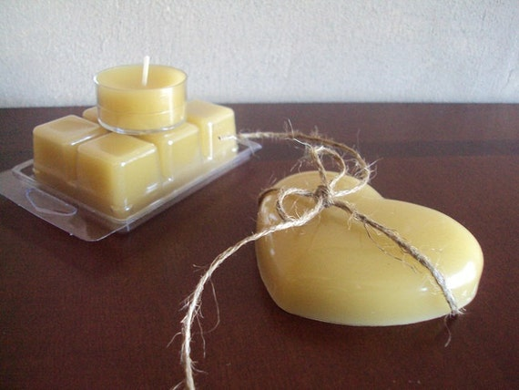 Beeswax Natural Candle and Tart Gift Set Comes Gift Wrapped - Reduced