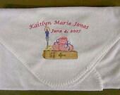 Personalized Christening Baptism Baby Blanket Boy or Girl