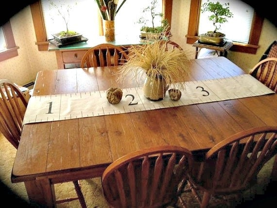 Country Table Runner Measuring Tape Canvas Cottage