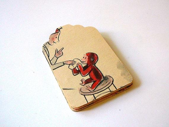 Die Cut Vintage Curious George