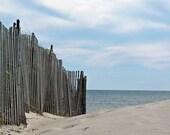 Beach Photography, Beach Fence, Summer Home Decor,  Fine Art Photograph, Beach Themed Bathroom - Beach Cottage Decor - Beach House Decor