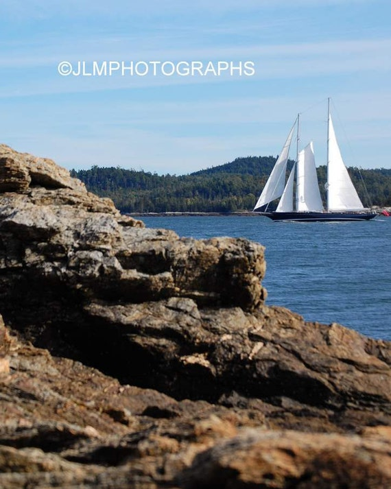 Sailboat Print, Nautical Decor, Fine Art Photography, Boat Photography, Nautical Wall Decor, Seaside Homes, Bedroom Art, Vacation Cottages