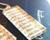 Rectangle Vintage Book Necklace